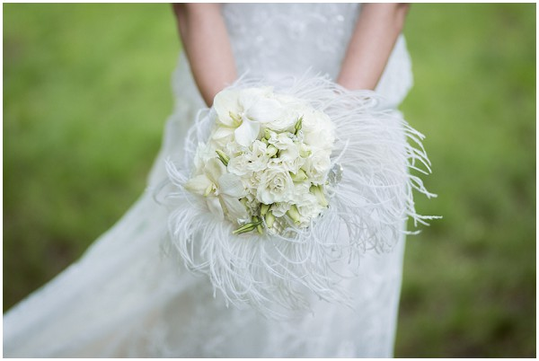white whimsical bouquet
