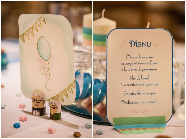 DIY wedding menu