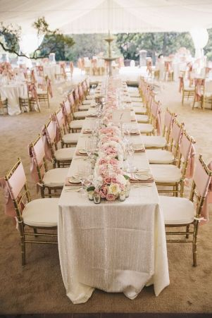 blush beach table