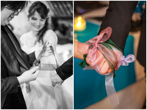 hand tying wedding