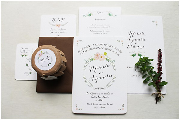 italian wedding stationery