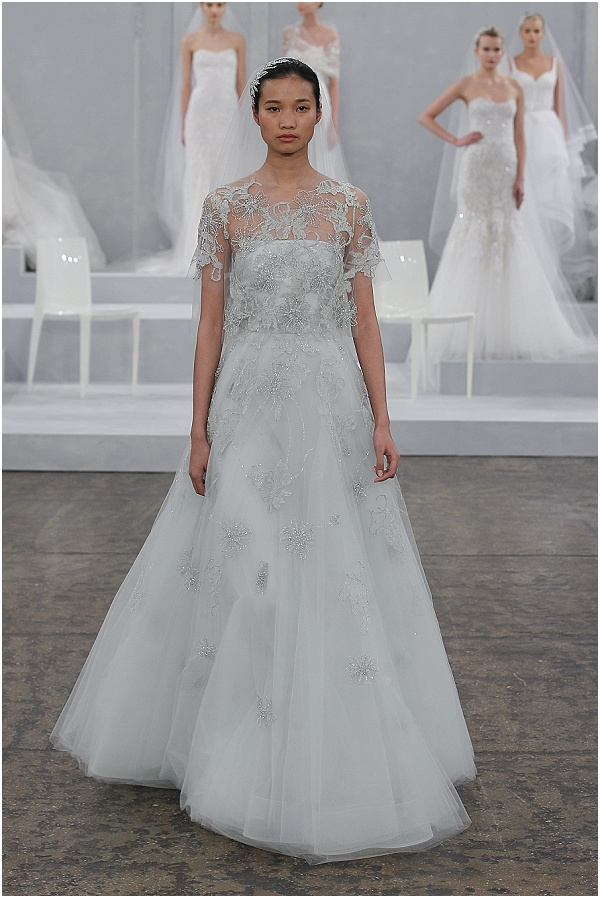 misty blue wedding dress from Monique Lhuillier