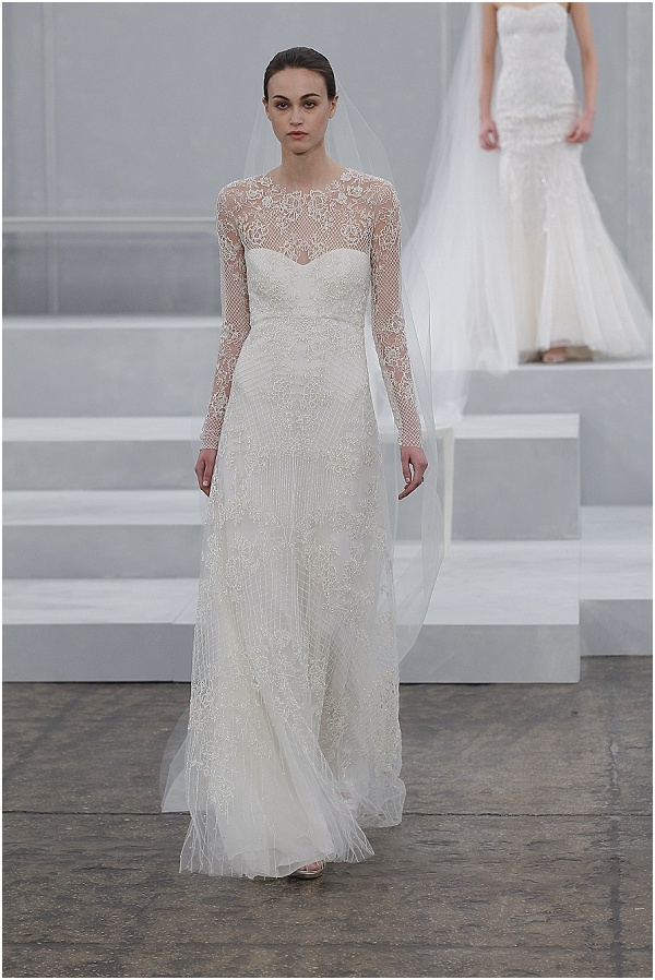 lace wedding dress from Monique Lhuillier