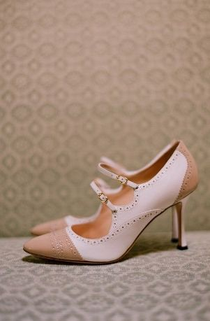 pink and caramel shoes