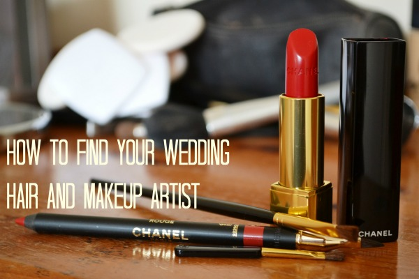 how to find your wedding hair and makeup artist