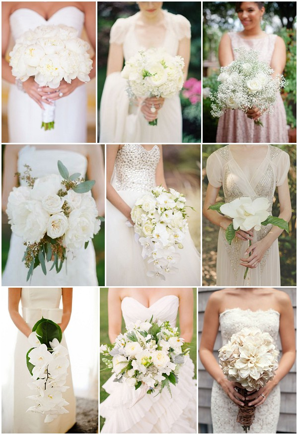 white wedding bouquet ideas