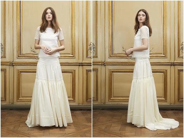 Simple Wedding Dresses Two Piece Bridal Gown 2