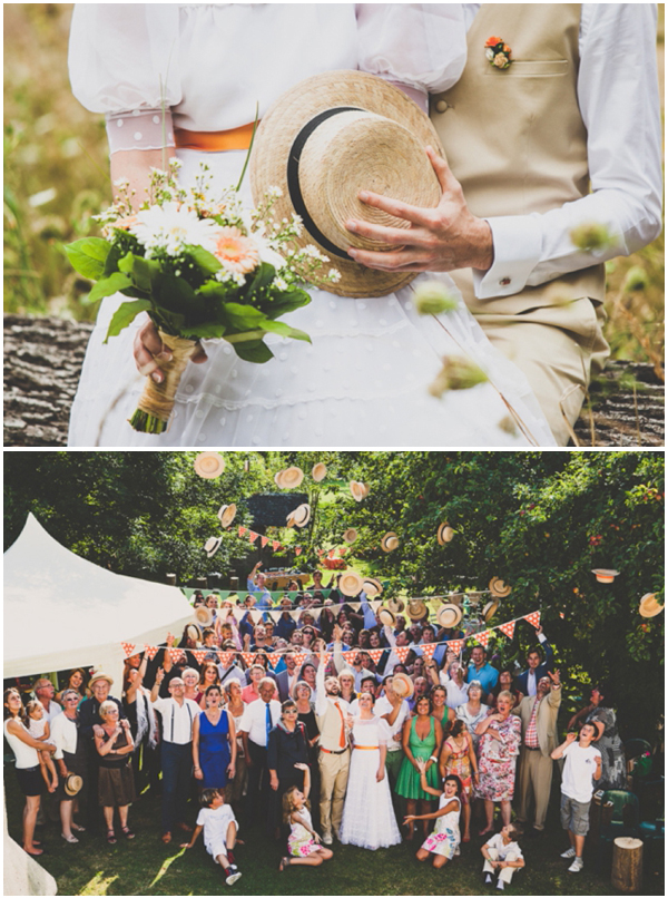 Summer wedding-Straw Hats-Canotiers