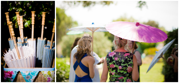 Summer wedding-Umbrellas