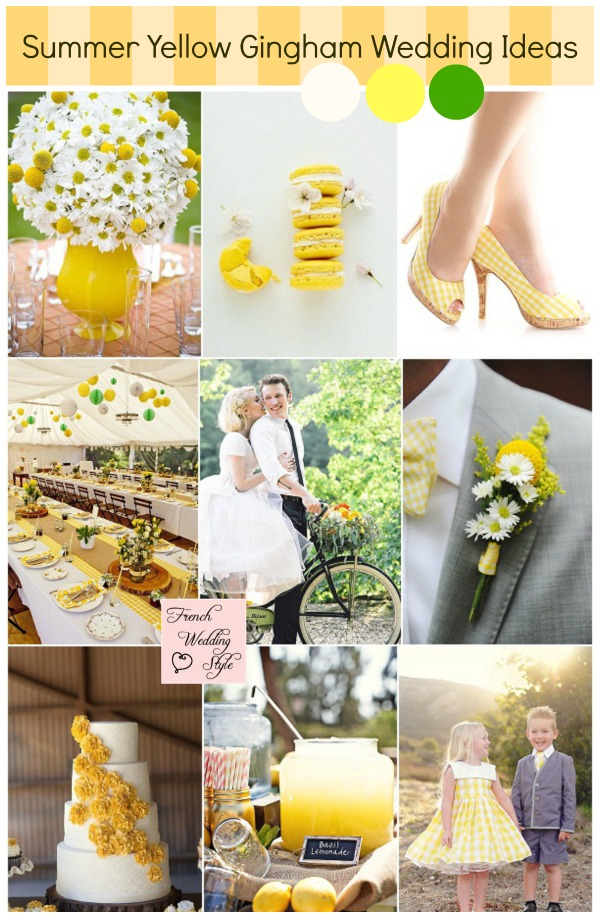 Summer yellow gingham wedding ideas