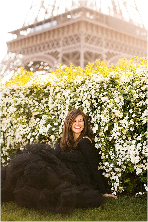 Springtime photo shoot in paris
