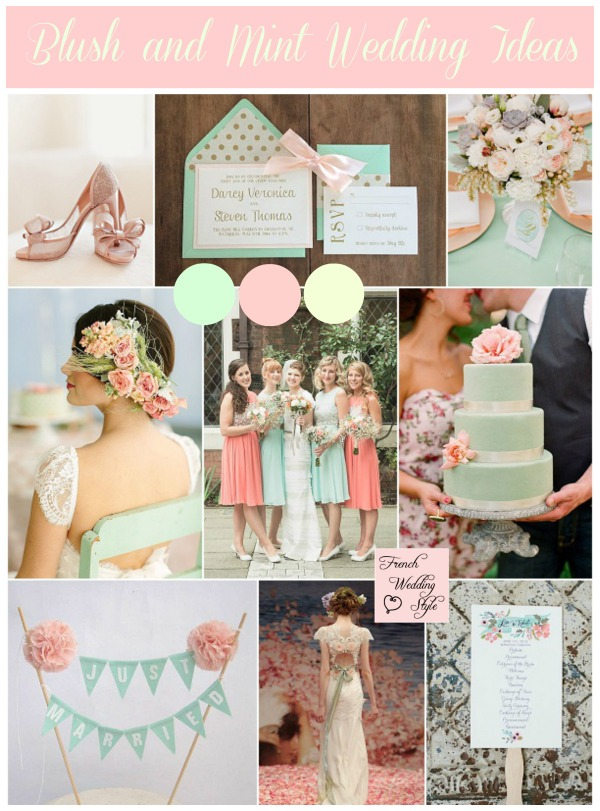 blush mint wedding ideas