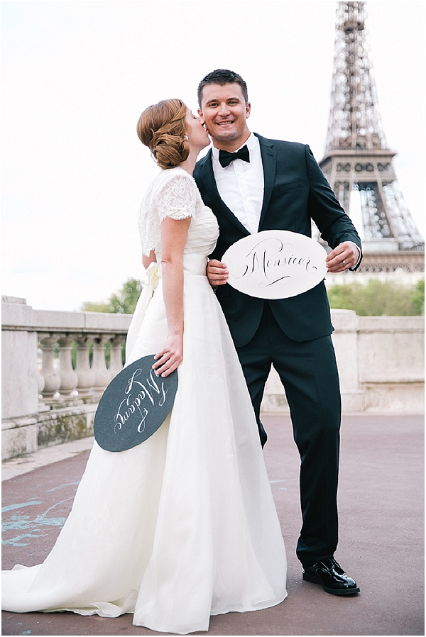 bride groom In paris