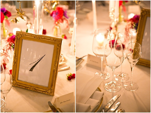 chic wedding table decor