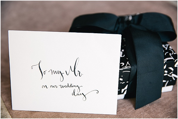 destination wedding gift black and white