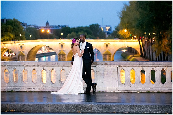 evening wedding In paris