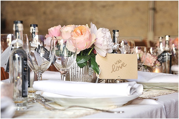 rose table centres