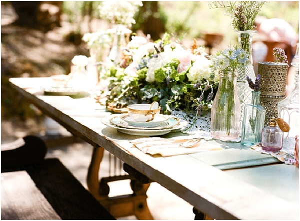 shabby chic wedding table