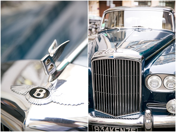 vintage bentley wedding car