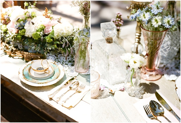 vintage inspired wedding table