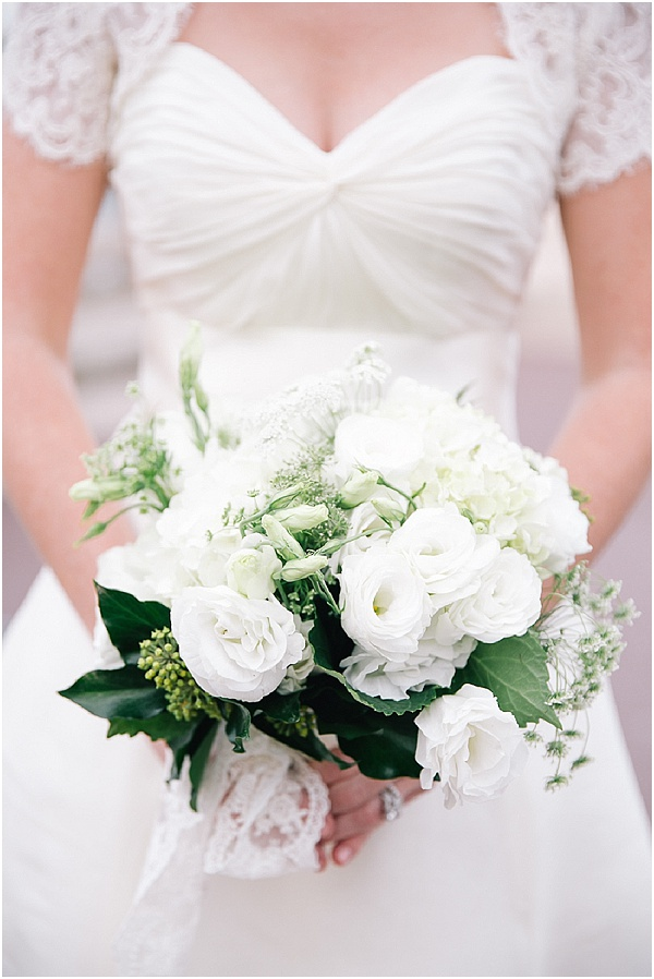 white small wedding bouquet