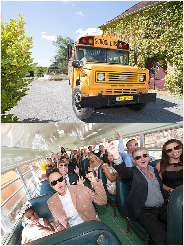 school bus for guests