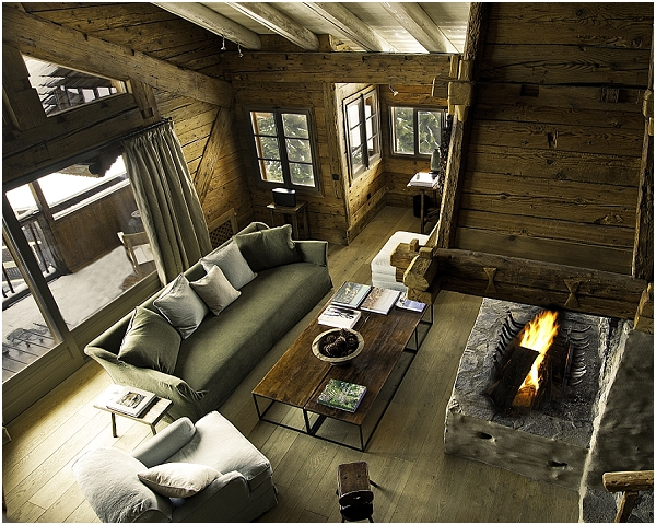 Luxury ski lodge