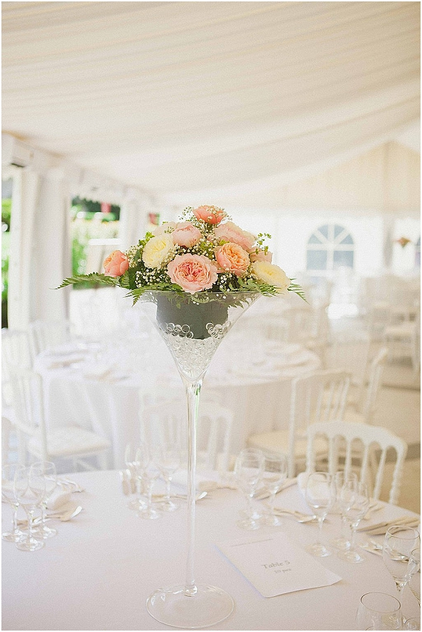 blush pink marquee wedding