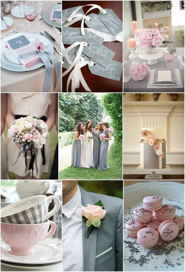pink grey wedding ideas
