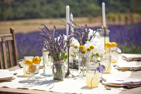 French lavender and lemon wedding ideas