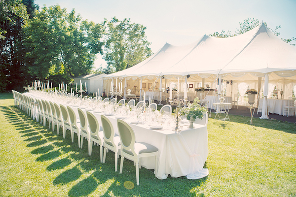 Marquee wedding in France