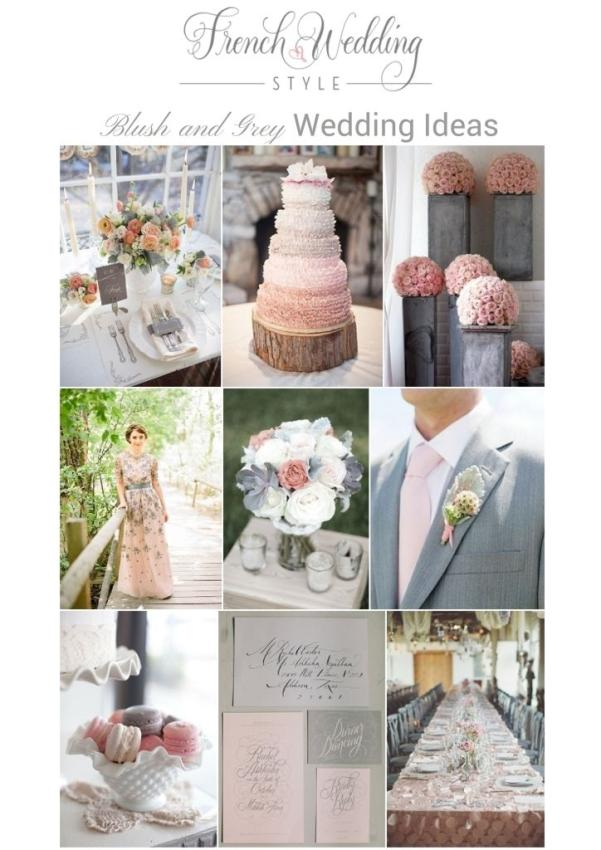 Romantic Blush and Grey Wedding ideas
