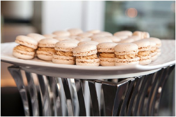 cream wedding macarons