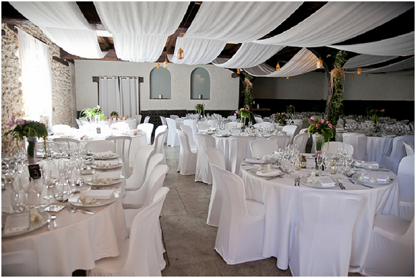 decoration white wedding venue
