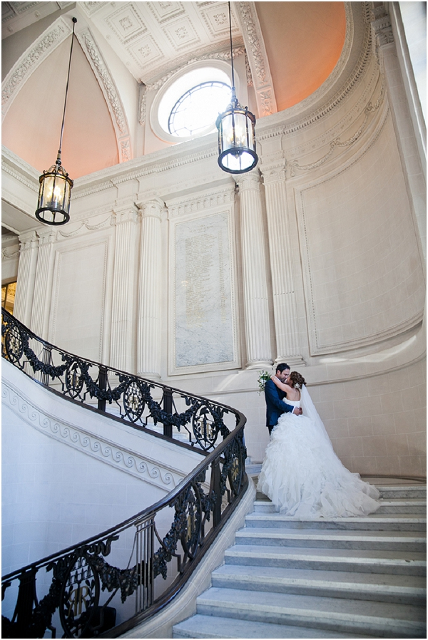 dramatic stairs weddings