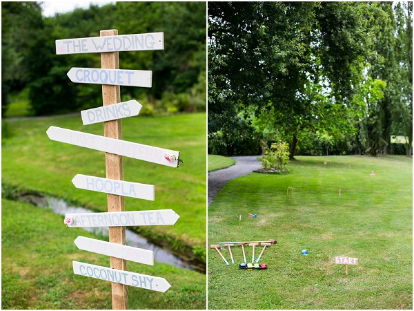 garden games at wedding