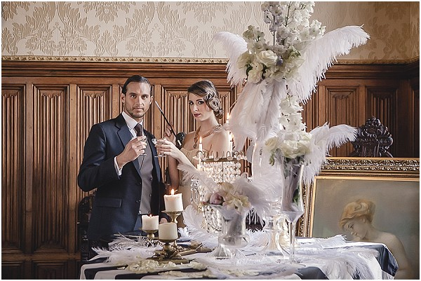 Great gatsby wedding inspiration at chateau challain great gatsby wedding ideas gatsby inspired wedding junglespirit