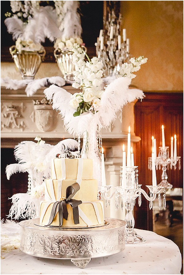 Great gatsby wedding inspiration at chateau challain gamle minder great gatsby wedding cake junglespirit Images