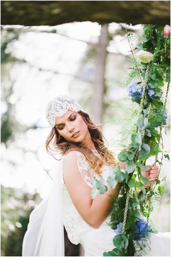 lace cap wedding veil