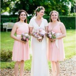 soft pink bridesmaids suits