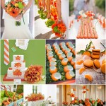tangerine and wasabi wedding ideas