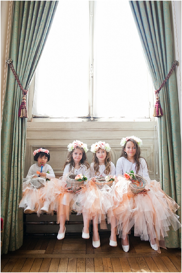 tulle flower girls