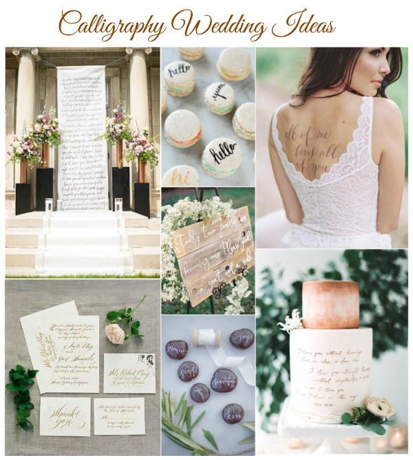 calligraphy wedding ideas