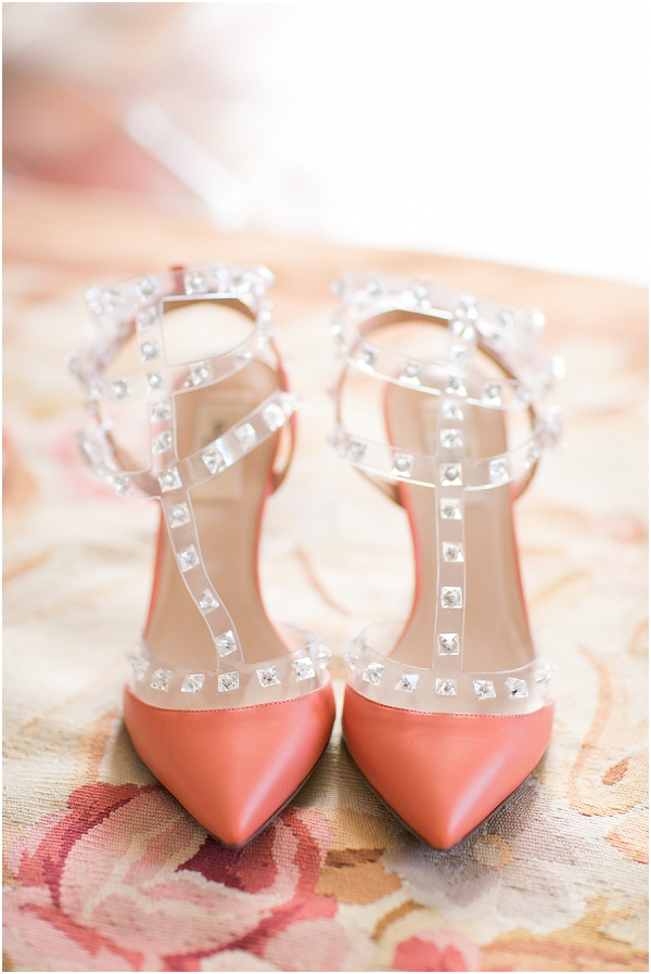 coral valentino shoes