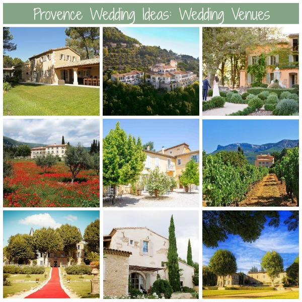 provence wedding ideas venues