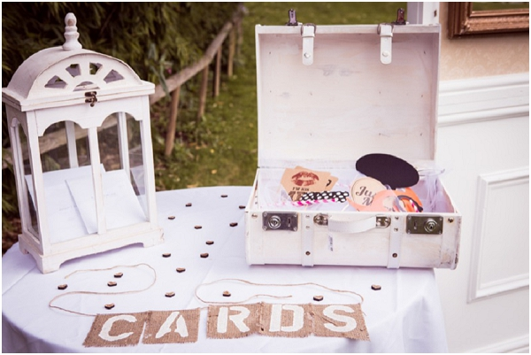 vintage wedding card table