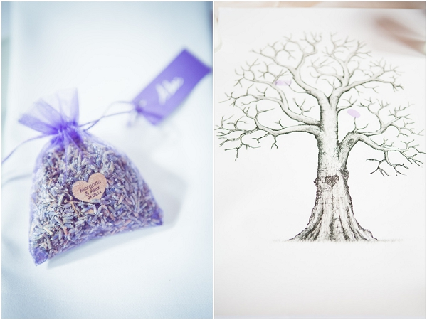 wedding guest tree lavender