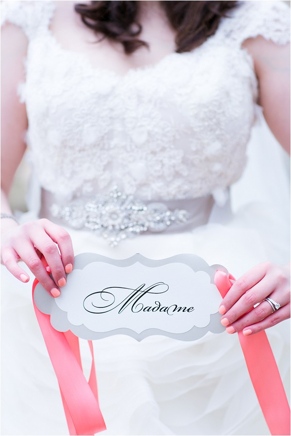 bride and madame sign