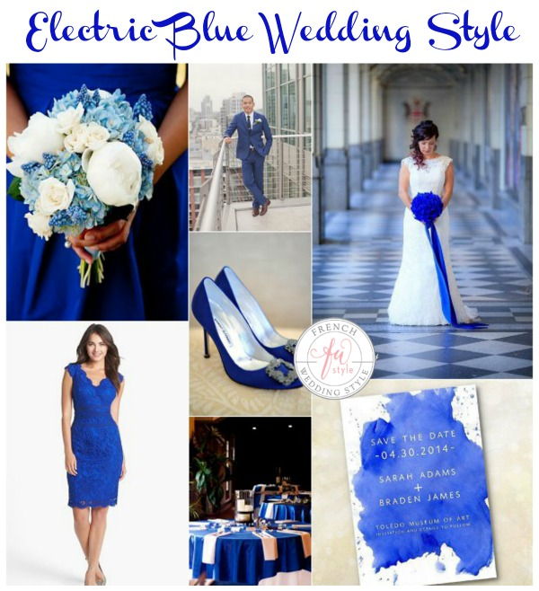 electric blue wedding style