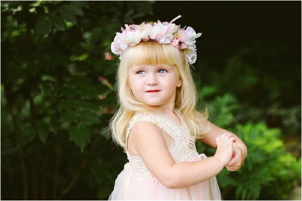 flowergirl floral crown